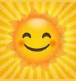 sun isolated with sunburst background vector image vector image