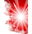 Sunny chrisrmas background vector image vector image
