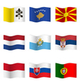 Waving flags of different countries 7 vector image vector image