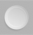 white dish plate vector image