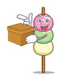 with box dango character cartoon style vector image