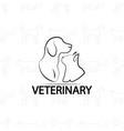 veterinary logo design on pets vector image