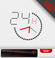 24 Hours Icon Design Elements vector image vector image