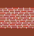3d red brick wall vector image