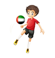 A player from the United Arab Emirates vector image
