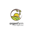 agriculture logo design templateorganic logo vector image