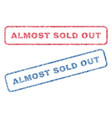 almost sold out textile stamps vector image vector image