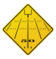 American Football Field Road Sign vector image vector image