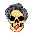 art work skull for tattoo inspiration vector image vector image