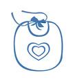 babib blue with heart symbol vector image vector image