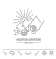 Bicycle thin line design logo template