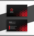 black business card with red triangle shapes vector image vector image