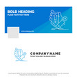 blue business logo template for phone hand vector image