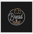 bread shop logo round linear house vector image