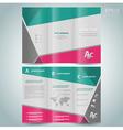 brochure design template leaflet vector image vector image