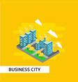 business city isometric template design vector image