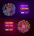 casino website banners vector image vector image