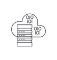cloud hosting line icon concept cloud hosting vector image vector image