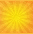 crumpled yellow paper with sunburst vector image