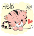cute drawing tiger vector image vector image