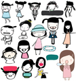 Cute Girl Funny Action Girls vector image