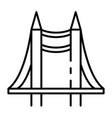 desk bridge project icon outline style vector image vector image