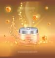 digital gold oil essence mockup on with vector image