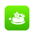 eco spa soap icon green vector image