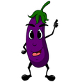 eggplant cartoon thumb up vector image vector image