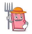 farmer diary character cartoon style vector image