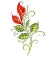 floral element ornament vector image