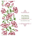 floral seamless border garland pattern flower vector image vector image