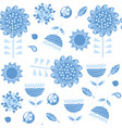 floral seamless pattern it is located in swatch vector image vector image