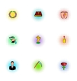 Funeral icons set pop-art style vector image