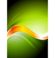 Green and orange waves vector image vector image