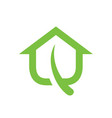 green house leaf logo icon vector image