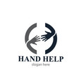 hand help people logo designs icons modern vector image