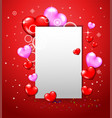 happy valentine day red heart vector image