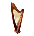 Harp on white vector image vector image