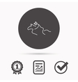 Horseback riding icon Jockey rider sign vector image vector image