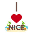 i love nice travel palm summer lounge chair vector image vector image