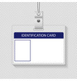 identification card isolated transparent vector image