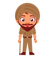 indian man police constable indian police service vector image vector image