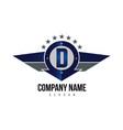 letter d shield logo vector image