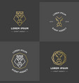 lion diamond emblems vector image vector image