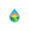 liquid farm logo icon design vector image
