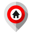 map pin symbol home gps pointer folded from vector image