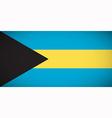national flag bahamas vector image vector image