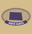 north dakota map silhouette - oval stamp state vector image vector image