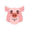 pig sleeping emoji piggy asleepl emotion on white vector image vector image